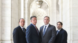 The attorneys at Greenberg & Stein - Seth Greenberg, Joshua Stein, Scott Steinberg and Ian Asch